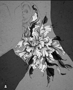 Flower Tattoo Drawings, Tattoo Sketches, Flower Tattoos, Swallow Bird Tattoos, Botanical Line Drawing, Dark Ink, Japanese Tattoo Designs, Dark Flowers, Dark Tattoo
