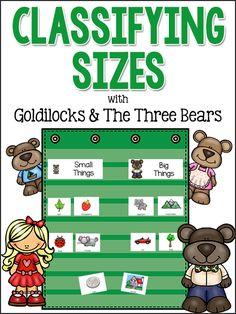 Goldilocks & the Three Bears: Classifying Sizes Activity