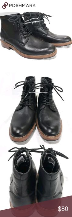 """NEW Perry Ellis Portfolio """"Diego"""" Chucka 9.5 NWOT NEW Perry Ellis Portfolio """"DIEGO"""" AMERICA black chucka ankle lace up boots 9.5 mens NWOT Perry Ellis Shoes Chukka Boots"""
