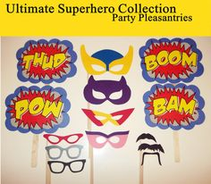 FREE Shipping  ULTIMATE SUPERHERO Collection  by PartyPleasantries, $45.00