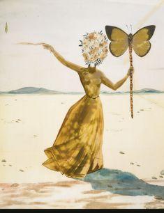 Salvador Dalí  1904 - 1989  CRISALIDA (FEMME À LA TÊTE DE FLEURS, LE BRAS DROIT LEVÉ)