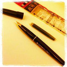 #japon #tools #carbon #fountainpen Fountain Pen, Sketching, Tools, Dip Pen, Instruments, Appliance, Fountain Pens, Vehicles