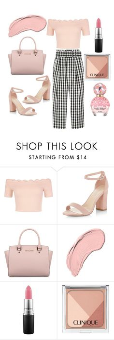 """""""Black, white and pink ☺️"""" by anyaaa04 on Polyvore featuring New Look, Michael Kors, NYX, MAC Cosmetics, Clinique, Marc Jacobs, Beauty, fashionblogger and beautyblogger"""