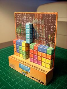 TETRIS Paper Foldable! Make a Tetris here: http://www.paperfoldables.com/tetris_paperfoldable.pdf