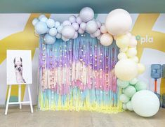 Quinceanera Party Planning – 5 Secrets For Having The Best Mexican Birthday Party Balloon Gift, Balloon Garland, Balloon Decorations, Birthday Party Decorations, Birthday Parties, Streamer Wall, Balloon Wall, Unicorn Themed Birthday Party, Rainbow Unicorn Party