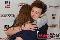 Cameron and a fan