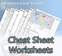 Common Core Sheets- A great resource for math, science, language arts and Social Studies worksheets....a great time saver!!!!