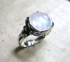 Rainbow Moonstone and Sterling Woodland Vine Ring by LuraJewelry, $175.00     kinda pretty in an artsy fartsy sorta way!?