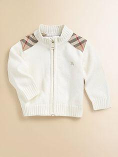 Baby Burberry sweater... I like my kids dressing better than I do