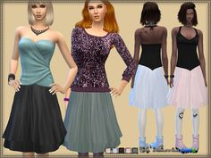 Skirt Chiffon at Bukovka via Sims 4 Updates  Check more at http://sims4updates.net/clothing/skirt-chiffon-at-bukovka/