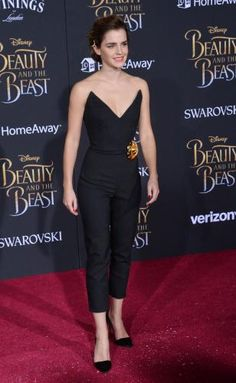"Emma Watson, who plays Belle in the live action remake of Disney's ""Beauty and the Beast,"" attended the film's… – @UPI Photo Gallery"