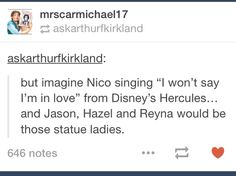 I think that Annabeth would also be a statue person.... Just personal judgment.... I don't know....