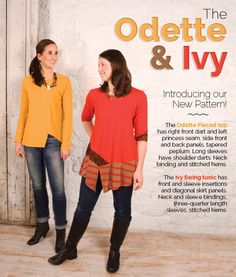 New Pattern! Odette & Ivy Tops  - The Sewing Workshop Pattern Collection