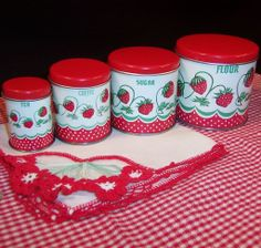 Child's Wolverine Strawberry Canister Set on Ruby lane for $150.00 !