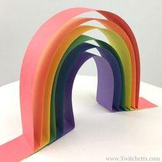 Rainbow activity for preschoolers ~ 3D rainbow art