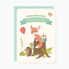 PARTY INVITATIONS - Woodland Forest Animals