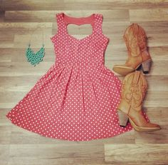 Would You Wear it?   Dress - $35.00 http://www.bellumandrogue.us/products/polka-dot-dress-dark-pink   Necklace - $10.00 http://www.bellumandrogue.us/collections/necklace/products/geometric-necklace-turquoise   Boots - $49.99 http://www.bellumandrogue.us/products/new-cowboy-boot-tan   Follow The Links To Order    FREE SHIP!