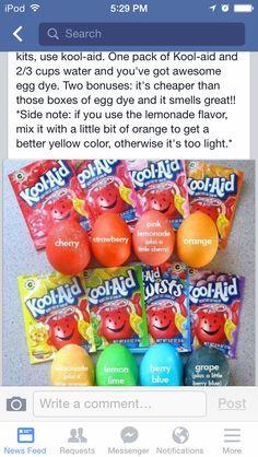 Kool-aid coloring