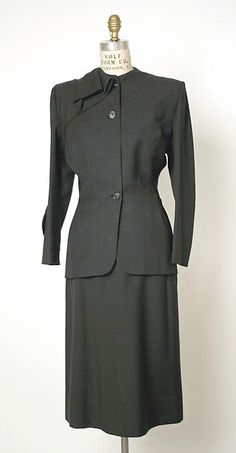 Gilbert Adrian (American, Naugatuck, Connecticut 1903–1959 Hollywood, California)  Date:1950  Culture:American  Medium:wool  Credit Line:Gift of Laurie Vance Johnson, 1981