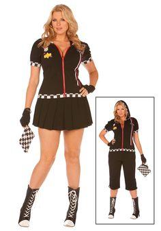 Plus Size Race Car Driver Costume