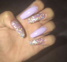 What you need to know about acrylic nails - My Nails Best Acrylic Nails, Acrylic Nail Designs, Sparkle Acrylic Nails, Long Nail Designs, Glitter, Art Designs, Aycrlic Nails, Hair And Nails, Nails 2016