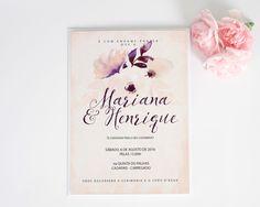 A Mariana e o Henrique pediram-me um convite de casamento romântico em tons pastel e este foi o resultado, para encomendas enviem mail para madebycatia@gmail.com