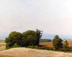 "Marc Bohne ""Windbreak Near McMinneville, Oregon"" 16 x 20"" oil on panel"