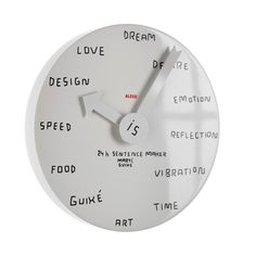 Catalan designer Martí Guixé's wall clock for Alessi has a dry-wipe surface and no markings.