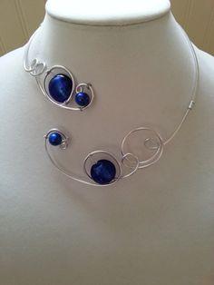 WEDDING JEWELRY - PROM - ROYAL BLUE NECKLACE  | LesBijouxLibellule - Jewelry on ArtFire