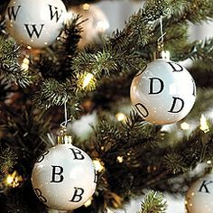 Under The Table and Dreaming: Ballard Designs Inspired Alphabet Ornaments by Ali at Honey and Maple Syrup {Ornament No.15}
