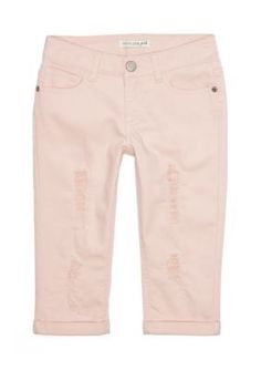 Imperial Star Fade Rose Distressed Crop Pants Girls 7-16