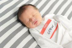 Newborn photo idea - nametag