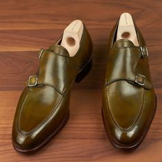 Saint Crispins for Leatherfoot Double Monk Straps www.theshoesnobblog.com