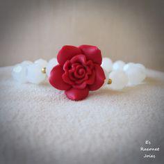Pulsera flor roja. https://www.facebook.com/pages/Es-Raconet-Joies/540689599317195