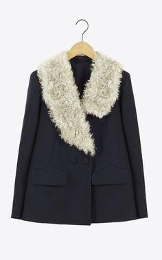 Carven Cloth coat peacoat