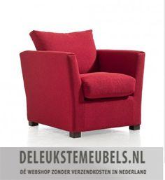 Met deze moderne fauteuil Minsk van de Happy@Home collectie kom je helemaal tot rust! De stoel is uitgevoerd in een Rosswel stof in de kleur rood. Rosswel is een fijne stof die zowel zacht als ruw aanvoelt, het verkleurt nauwelijks. Deze stof is zeer eenvoudig te reinigen en daarom uitermate geschikt voor intensief gebruik. Er is een optimaal zitcomfort door het hoogwaardige koudschuim. De rechte vormgeving maakt deze fauteuil helemaal van nu!