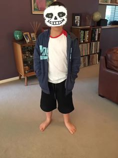 I made my own sans costume!!! I know it's not the best but it's something!