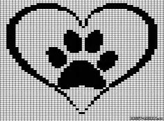 New Crochet Cat Paw Cross Stitch 70 Ideas Cross Stitching, Cross Stitch Embroidery, Embroidery Patterns, Cross Stitch Heart, Cross Stitch Animals, Cross Stitch Designs, Cross Stitch Patterns, Loom Patterns, Crochet Patterns