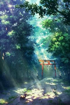 Divine - My Worlds Wonderful whimsical fantasy landscape art Wallpaper Aesthetic, Aesthetic Art, Aesthetic Anime, Aesthetic Pictures, Fantasy Landscape, Landscape Art, Watercolor Landscape, Hotarubi No Mori, Japon Illustration