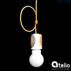Designerska lampa wykonana w pracowni StyLova. Do kupienia w atelio.pl