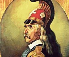 1821 - 25 March: The beggining of the Greek Revolution War. I cannot upload all of the great warriors, so I chose to upload a picture of Theodore Kolokotronis. May you rest in peace brave men Greek Independence, Great Warriors, Greek Beauty, Greek History, Greek Art, Military History, Mythology, Revolution, Artwork