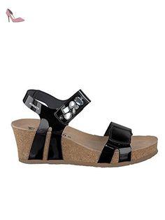 Sandales, color Noir , marca MEPHISTO, modelo Sandales MEPHISTO SOFT GRAIN Noir