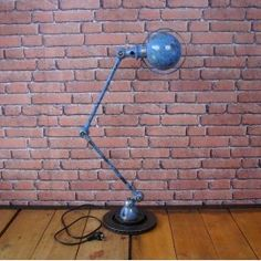 Stunning Industrial Jielde Lamp - 2 arms Blue. Buy it right now before it's too late! www.laboutiquevintage.co.uk #LaBoutiqueVintage