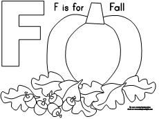 Fall Coloring Page  from Making Learning Fun.