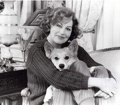 Ava Gardner and her Corgi