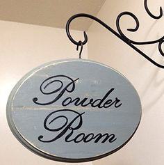 Adorable Bathroom Sign Large Sage Powder Room By CountryHomemakers