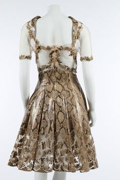 An Alexander McQueen for Givenchy snakeskin and tulle cocktail dress,  Autumn-Winter, 1999 haute couture collection fa0a1d059cf