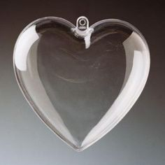 Clear plastic hearts that can be opened to decorate or fill with surprises and treats.  Transparent Clear Plastic Craft / Gift Hearts - from www.craftmill.co.uk  DIY Valentine and wedding love-themed Craft Ideas - Shop by Occasion | Craftmill