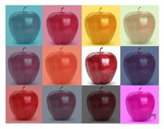 """""""The Andy Warhol Apple"""" by justjacy ❤ liked on Polyvore featuring art"""