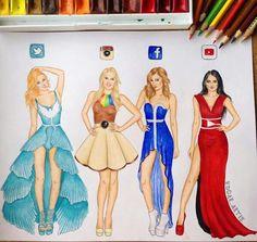 Social Media Fashion Art by Edgar Artis